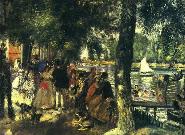 Monet bathing at la grenouill re colourlex art and for La grenouillere