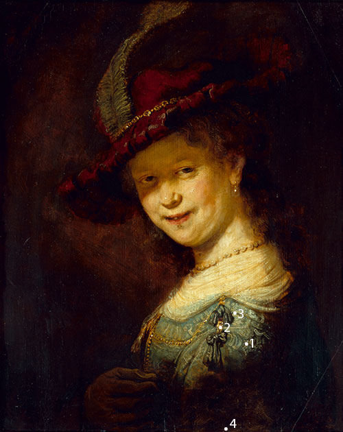 rembrandt a young lady smiling colourlex art and science