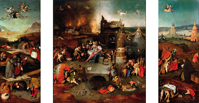 an analysis of life of hieronymus bosch The pigment analysis reveals a limited palette consisting of the usual pigments  employed in the  hieronymus bosch, 'visions of the hereafter', ca 1505-1515.