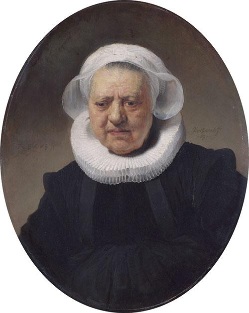 Rembrandt, Portrait of Aechje Claesdr | ColourLex