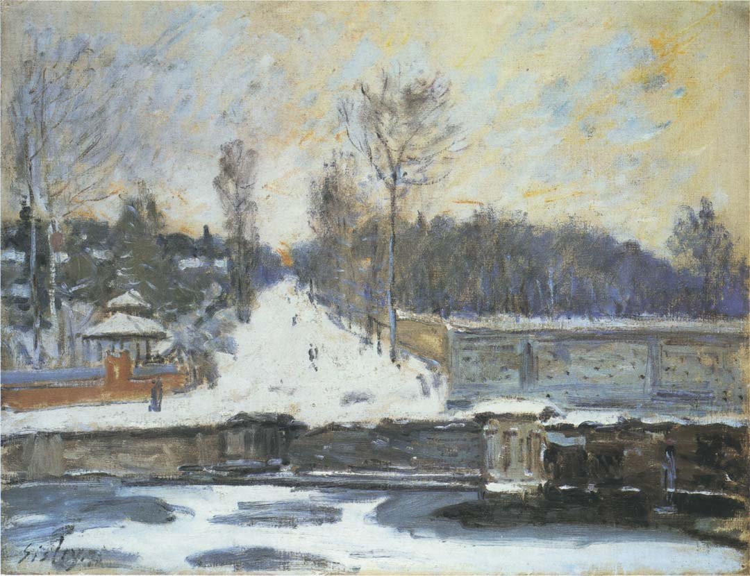 Sisley, The Watering Place at Marly-le-Roi | ColourLex | Art and Science