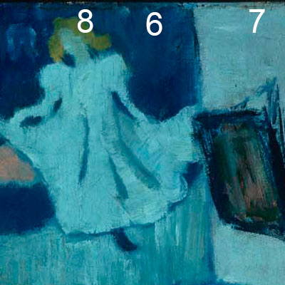Picasso, The Blue Room | ColourLex | Art and Science
